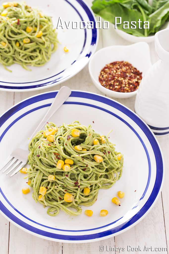 avocado spinach pasta recipe
