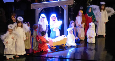 Children in a Christmas Tableau