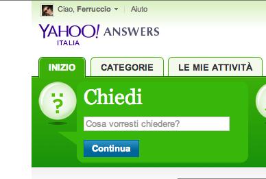 Yahoo incontri domande
