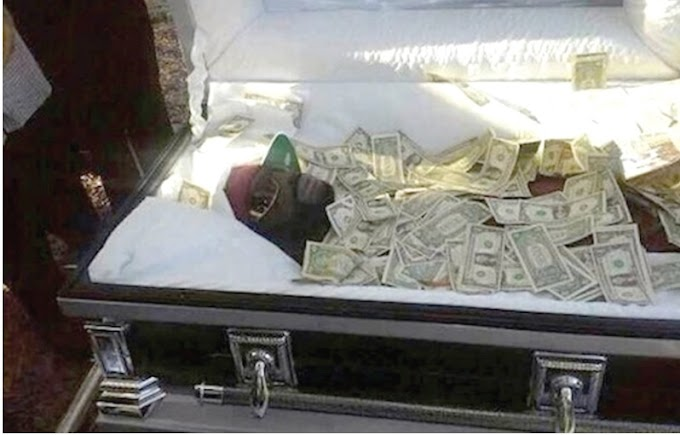 Man buried with $55,000 to bribe God