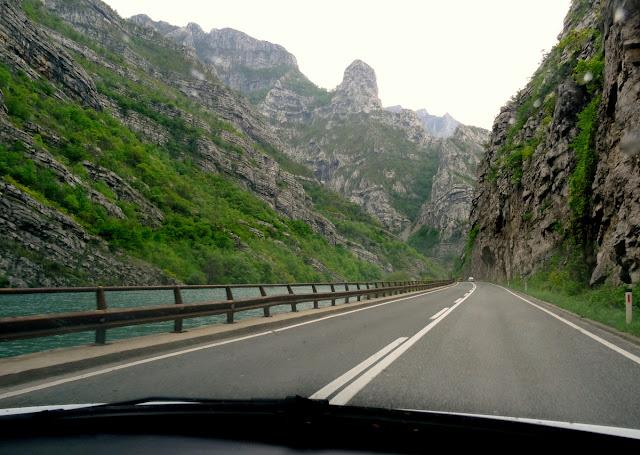 Neretva River on the road to Mostar from Sarajevo