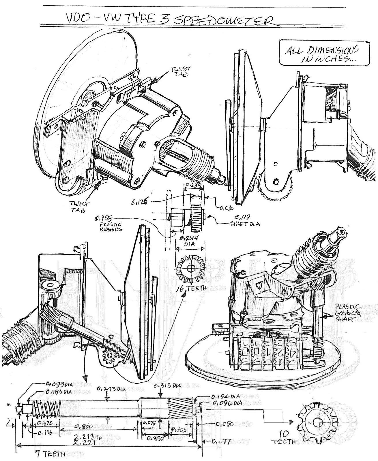 vintage vw engine diagrams