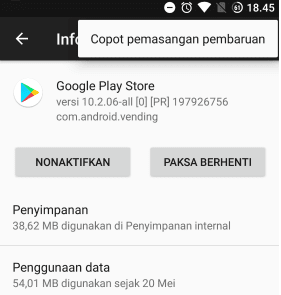 Cara uninstall playstore