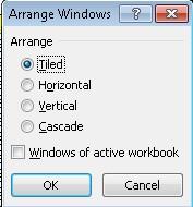 Cara Menampilkan 2 Jendela Dalam Sebuah Worksheet