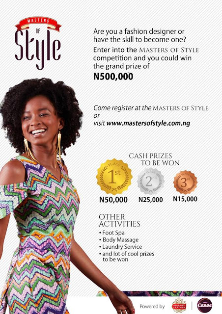 """Win N500k in Canoe Laundry Nigeria """"Master of Style Contest"""""""