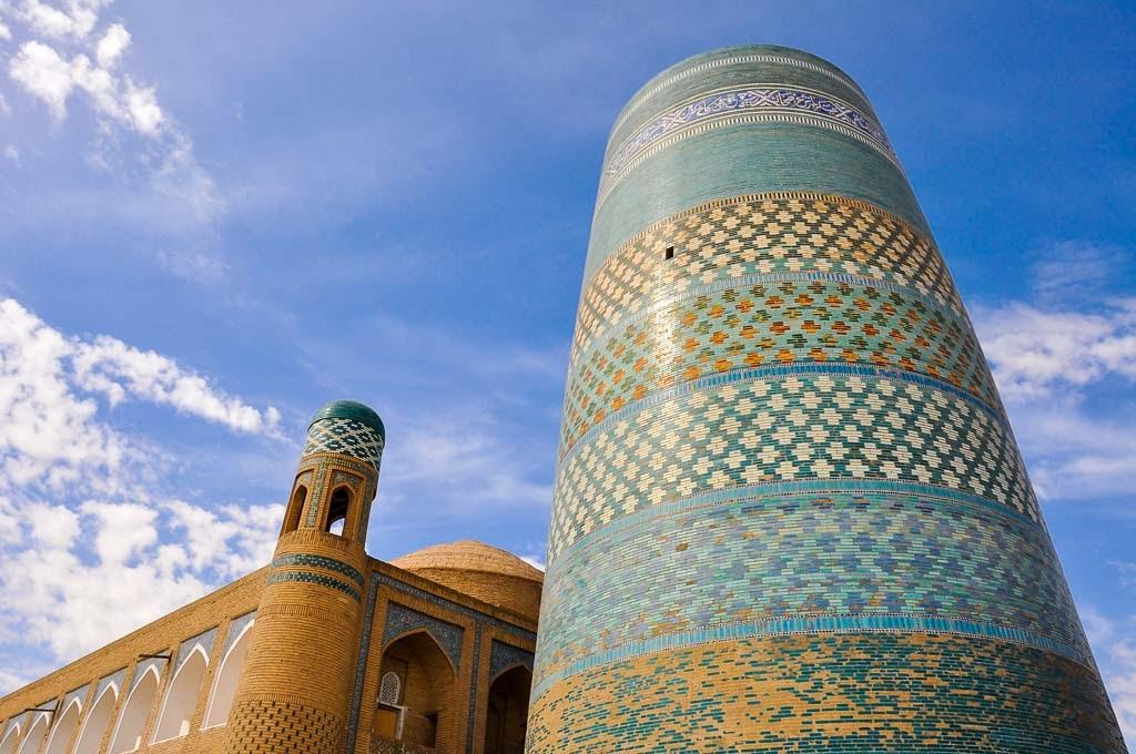 Minarete Kalta Minor en Jiva, Uzbekistán