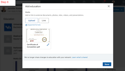 Display your corporate training certificates on LinkedIn.