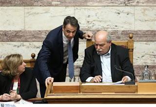 Υποβάθμιση των κοινοβουλευτικών διαδικασιών κατήγγειλε στο Ν. Βούτση ο Κ. Μητσοτάκης