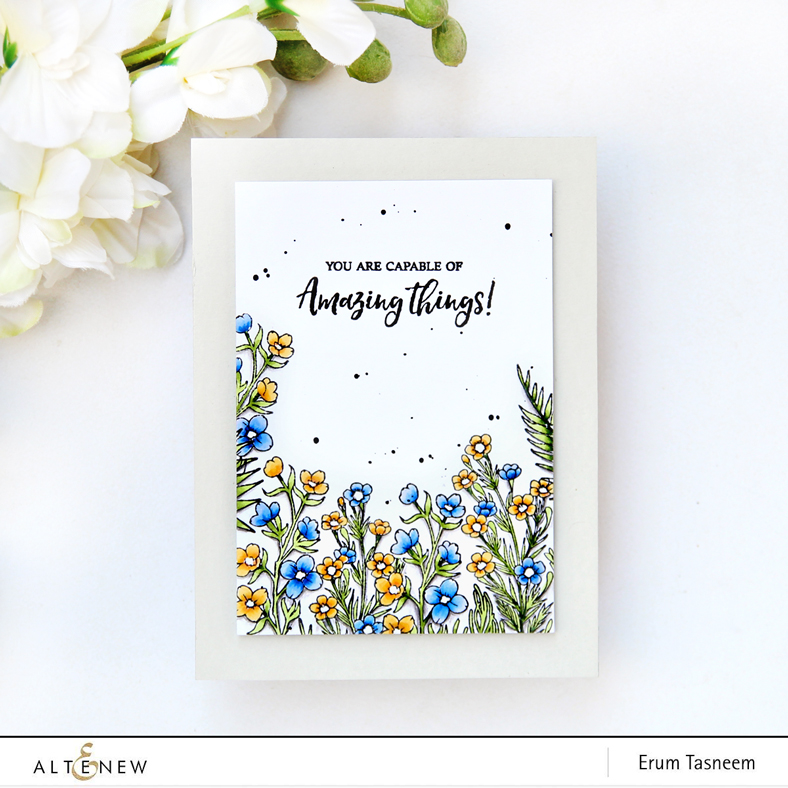 Altenew Focus on You Stamp Set | Coloured with Artist Markers | Erum Tasneem | @pr0digy0