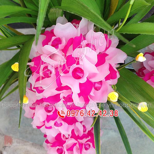 Mẫu hoa cẩm tú cầu pha lê