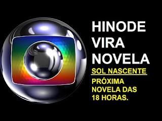 hinode na novela da Globo