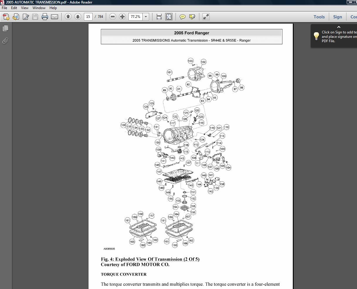 small resolution of 2001 02 03 04 05 06 07 08 5r44e 5r55e ford ranger automatic transmission pdf manual download