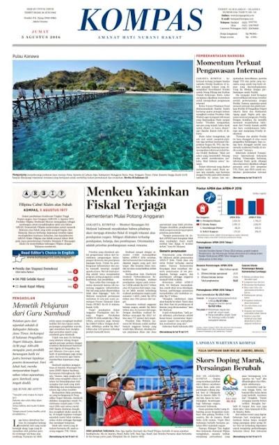 Kompas Edisi Jumat 5 Agustus 2016