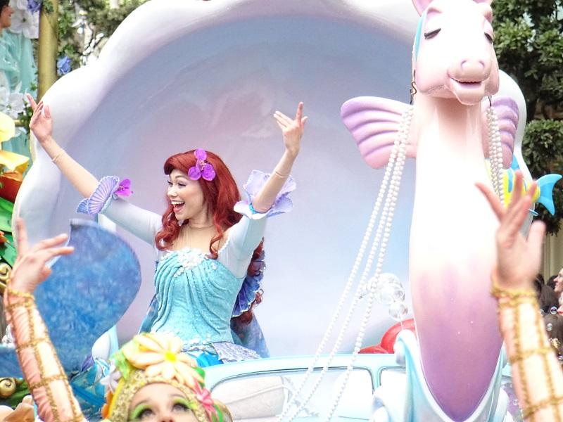 Ariel la petite sirene à la parade des princesses