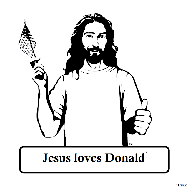 Funny Jesus Loves Donald Trump (Duck) Meme Picture