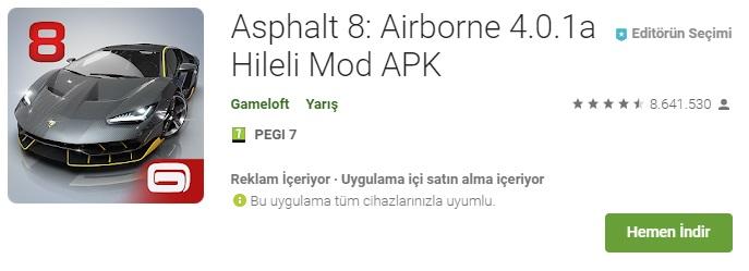 Asphalt 8: Airborne, Asphalt 8: Airborne para hilesi, Asphalt 8: Airborne mega hile, Asphalt 8: Airborne sınırsız nitro,