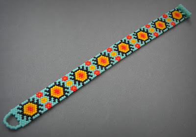 купить браслет из бисера яркий этнический браслет для парня девушки