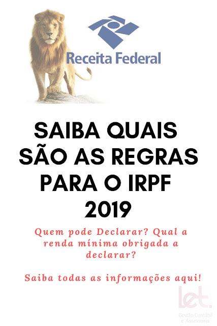 Quem está obrigado a fazer a Declaração de IRPF 2019?
