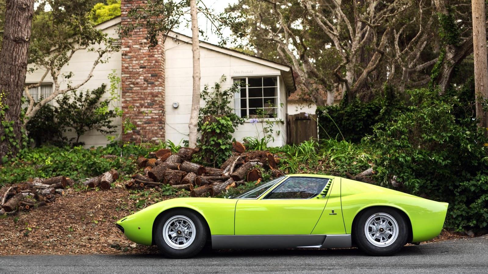 Siêu xe cổ Lamborghini Miura hàng hiếm, có thiết kế tuyệt đẹp