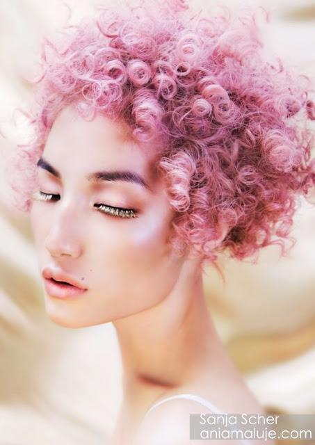 lawendowe różowe fioletowe pastelowe włosy