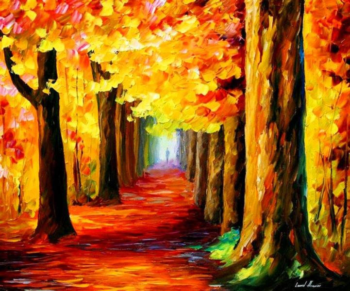 Im genes arte pinturas paisajes en esp tula leo - Pintar un cuadro moderno ...