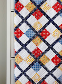 Diagonal Plaid longarm quilting design / panto