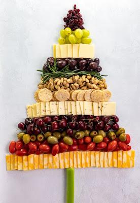 árbol de navidad con aperitivo