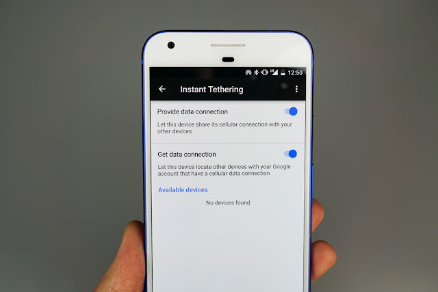 Instant Tethering feature For Pixel