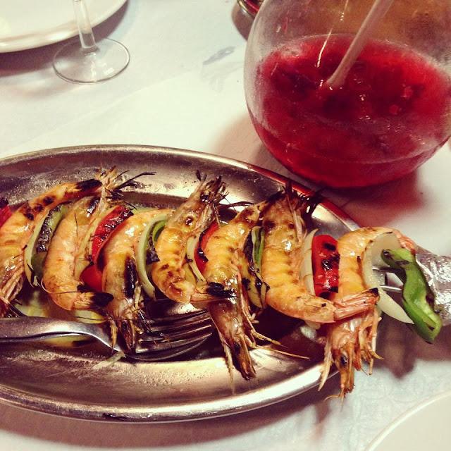 Brochette de crevettes Piri Piri Restaurant