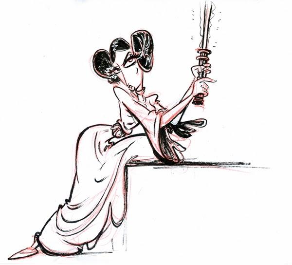 princess leia lightsaber drawing