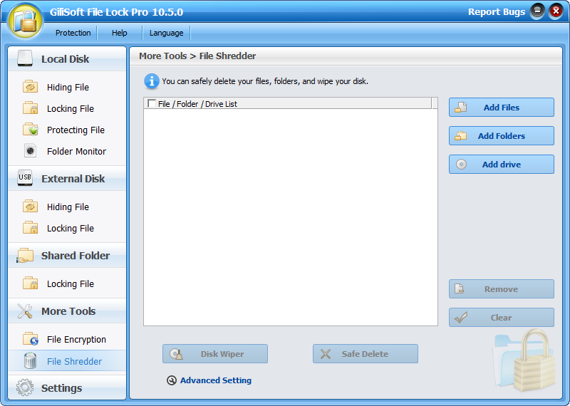 Gili lock 2.2 lock any program installed on your local pc