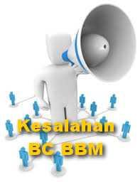 Hati-hati dengan kesalahan BC BBM