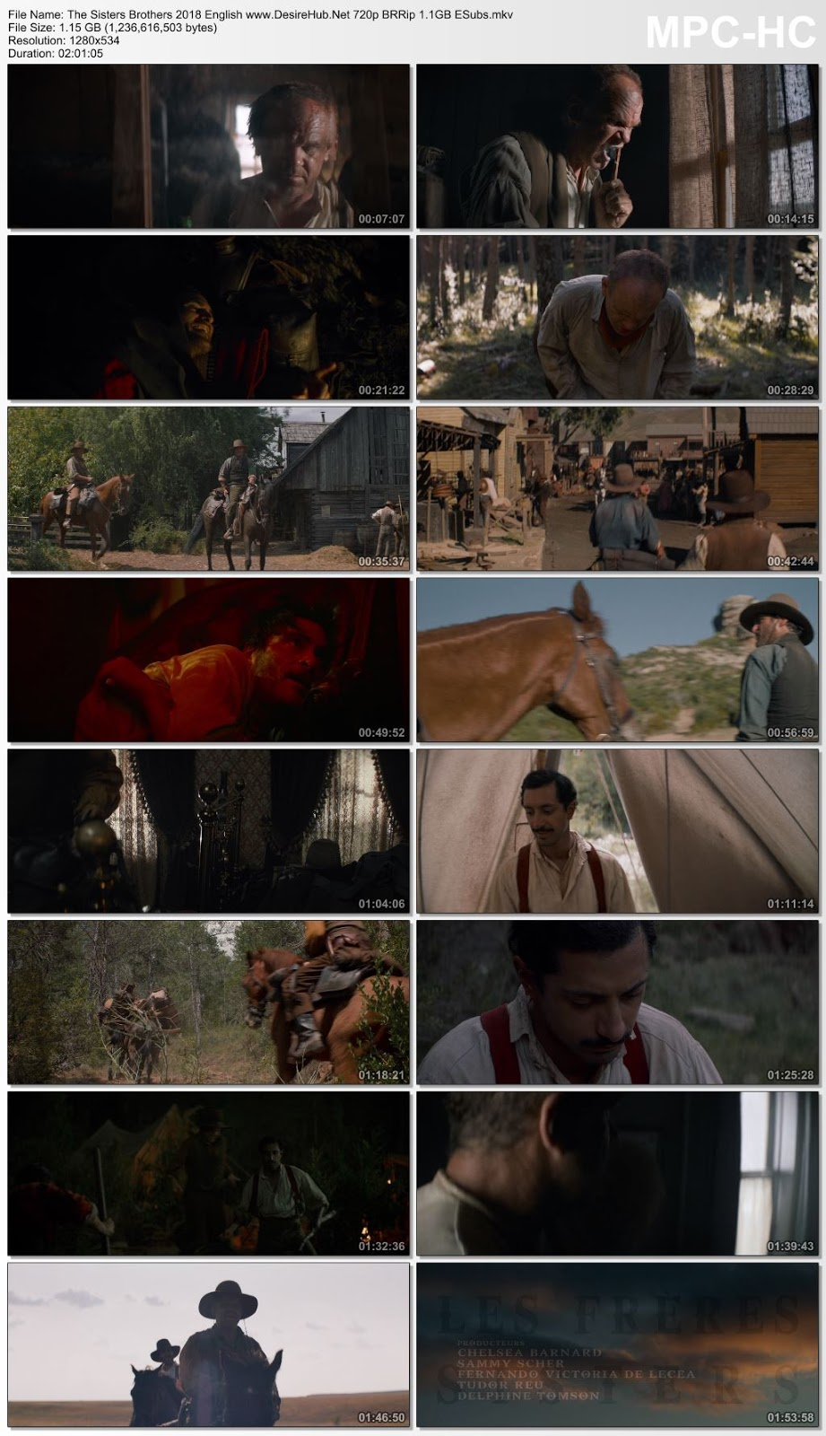 The Sisters Brothers 2018 English 720p BRRip 1.1GB ESubs Desirehub