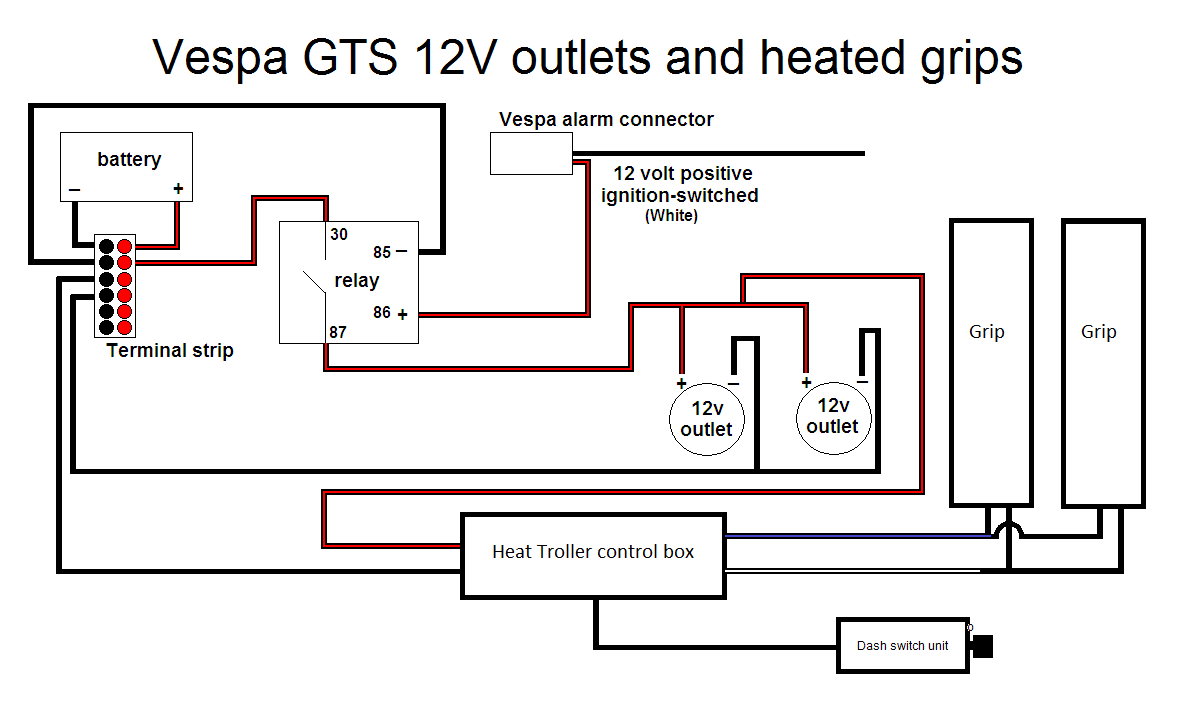 a picture is worth the proverbial thousand words here is my wiring diagram the twelve volt outlets were covered in an earlier project report  [ 1188 x 715 Pixel ]