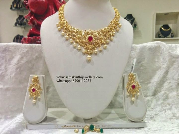Indian Jewellery And Clothing Beautiful Gold Coated