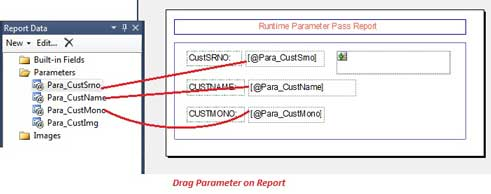 Drag parameter in RDLC Report