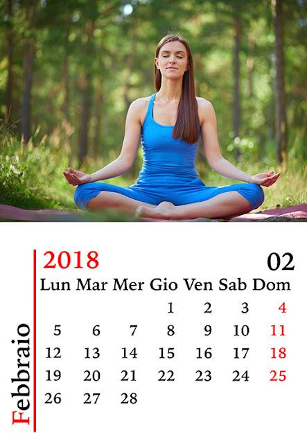 Calendario mensile da tavolo