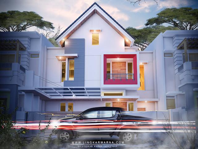 Desain warna rumah modern minimalis dua lantai