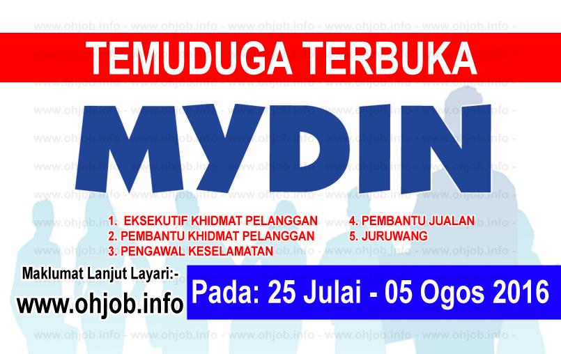 Jawatan Kerja Kosong Mydin Hypermarket logo www.ohjob.info ogos 2016