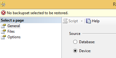 SQL Server Device