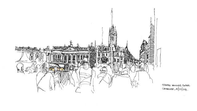 Stephen Hawking Funeral - sketch by Dennis Makuba