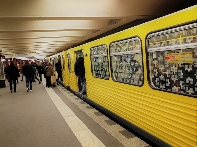 Yellow subway in Berlin
