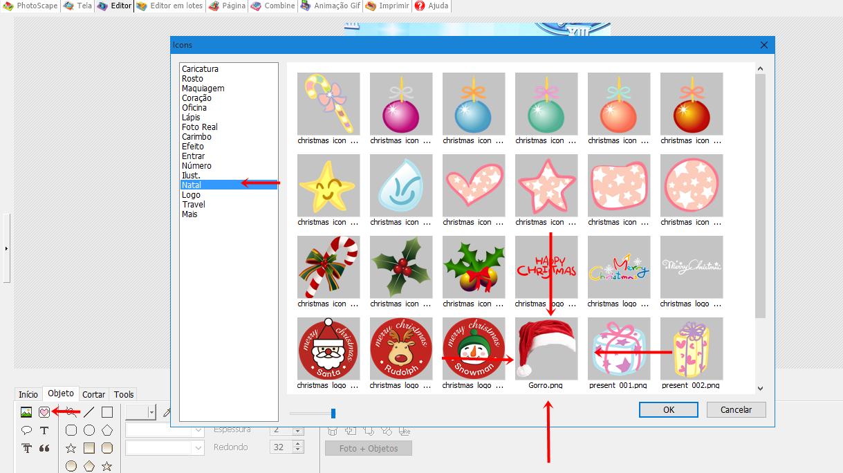 icones de natal para photoscape