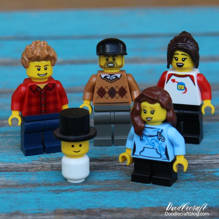 Lego Minifigure Hat Cap Hoodie White And Red  Boy Make Girl Female Minifig Head