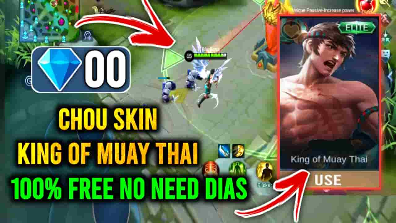 how to get chou lightning skin free,chou epic skin script no password,chou skin script, chou king of muay thai