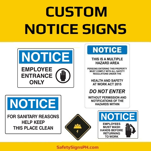 Custom Notice Signs Philippines