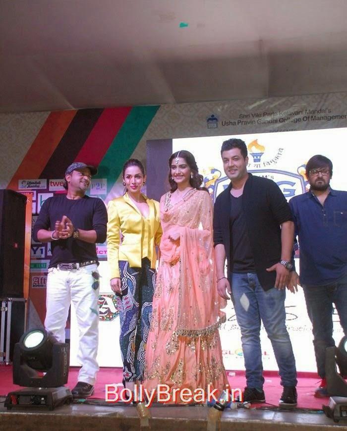 Sajid Ali, Malaika Arora Khan, Sonam Kapoor, Varun Sharma, Wajid Ali, Sonam Kapoor, Maliaka Arora Khan Hot Pics At 'Dolly Ki Doli' Music Launch