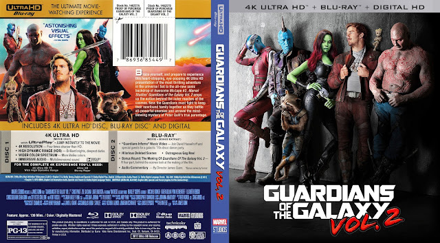 Guardians Of The Galaxy Vol 2 4K Bluray Cover