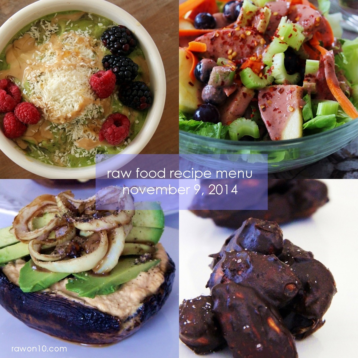 Raw on 10 a day or less raw food recipe menu november 9 2014 raw food recipe menu november 9 2014 breakfast forumfinder Image collections