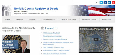 screen grab of Norfolk Deeds webpage